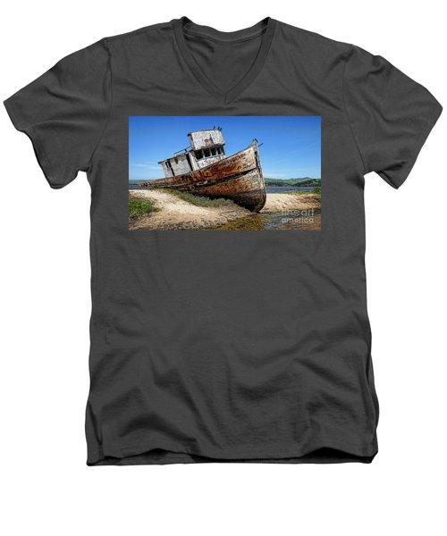 Shipwreck Men's V-Neck T-Shirt by Jason Abando