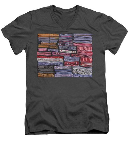 Shipwreck Men's V-Neck T-Shirt by Sandra Church