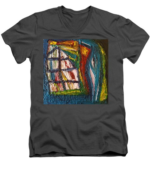 Shipwrecked Men's V-Neck T-Shirt by Darrell Black