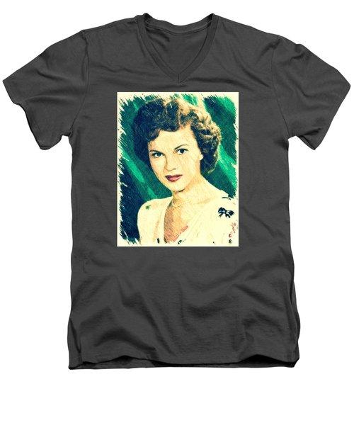 Shirley Temple By John Springfield Men's V-Neck T-Shirt by John Springfield