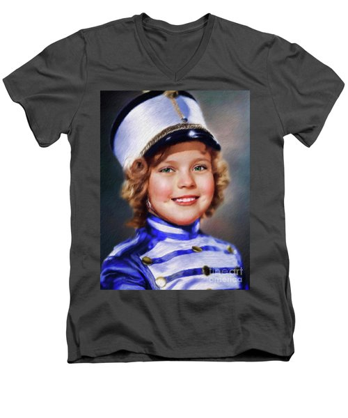 Shirley Temple, Vintage Actress Men's V-Neck T-Shirt