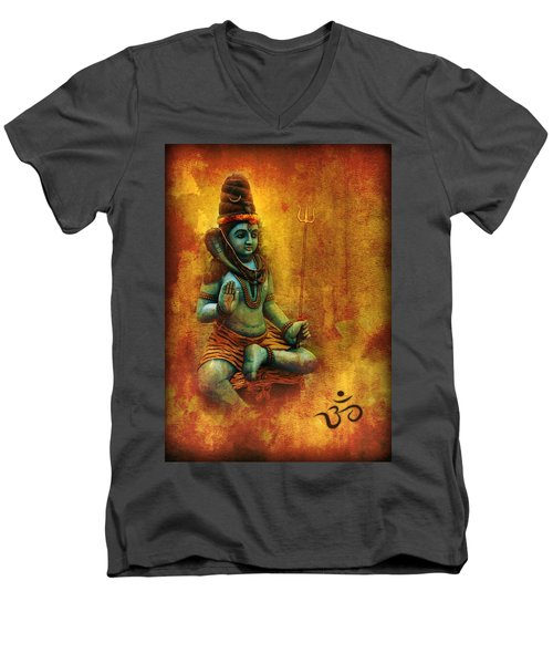 Shiva Hindu God Men's V-Neck T-Shirt