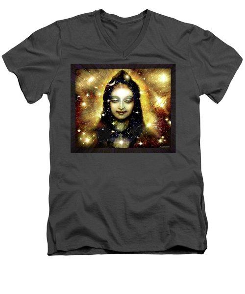 Shiva In Golden Space  Men's V-Neck T-Shirt