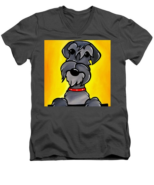 Shnoz Men's V-Neck T-Shirt by Tom Fedro - Fidostudio