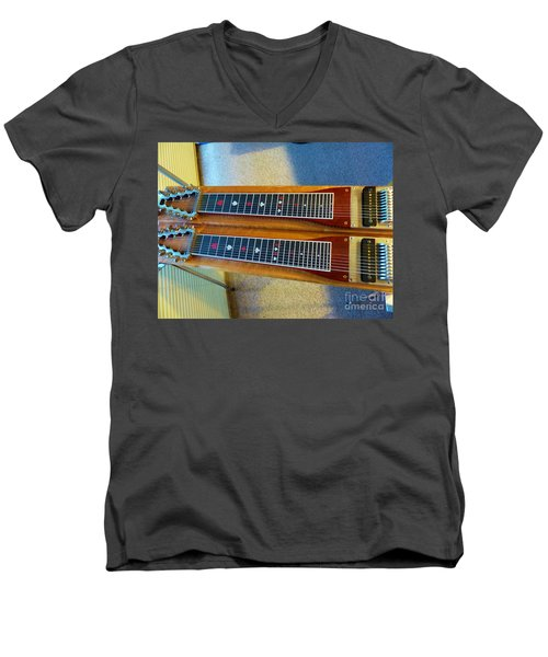 Sho-bud Pedal Steel Men's V-Neck T-Shirt