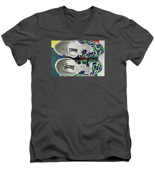 Shoe Art - 009 Men's V-Neck T-Shirt by Mudiama Kammoh