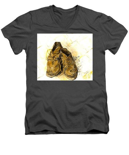 Shoes Men's V-Neck T-Shirt by John Stephens