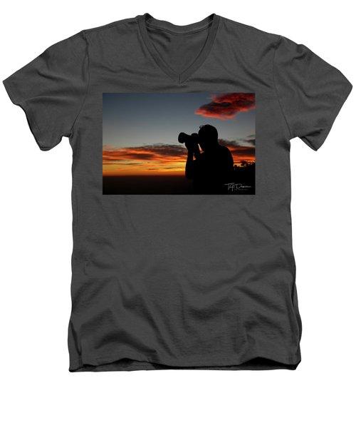Shoot The Burning Sky Men's V-Neck T-Shirt