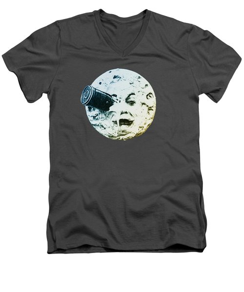 Shoot The Moon Men's V-Neck T-Shirt by Bill Cannon