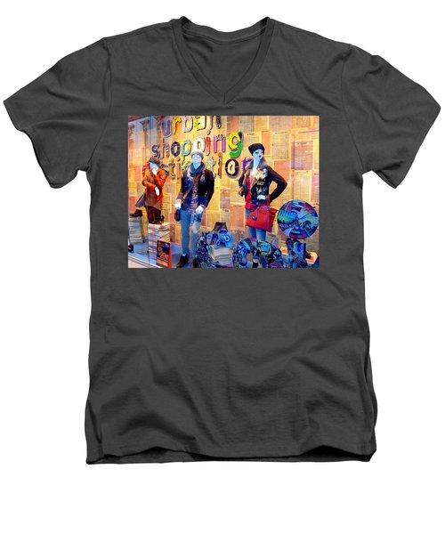 Shopping In Pisa Men's V-Neck T-Shirt