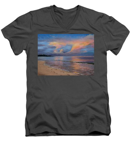 Shore Of Solitude Men's V-Neck T-Shirt