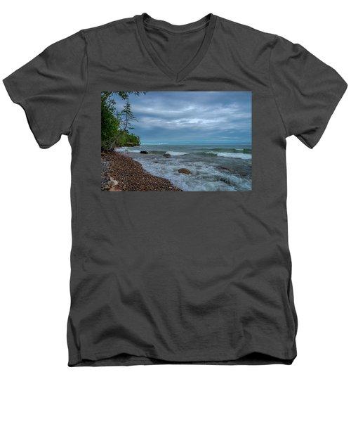 Shoreline Clouds Men's V-Neck T-Shirt