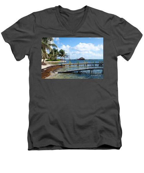 Men's V-Neck T-Shirt featuring the photograph Shoreline by Lawrence Burry