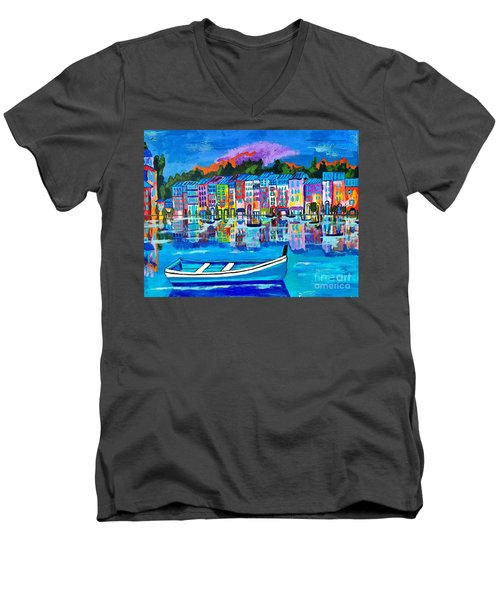 Shores Of Italy Men's V-Neck T-Shirt