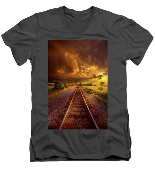 Men's V-Neck T-Shirt featuring the photograph Short Stories To Tell by Phil Koch