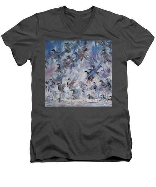 Shots Fired Men's V-Neck T-Shirt