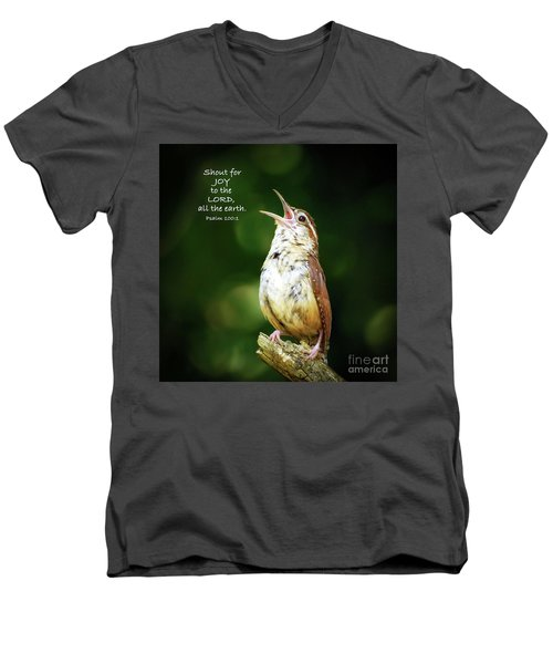 Men's V-Neck T-Shirt featuring the photograph Shout For Joy by Kerri Farley