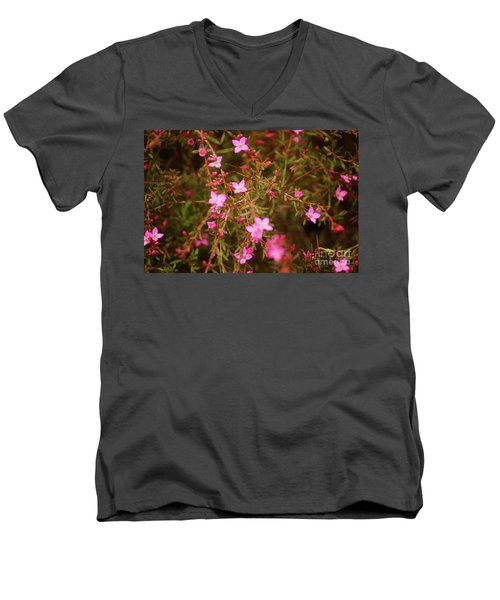 Shower Of Pink Men's V-Neck T-Shirt