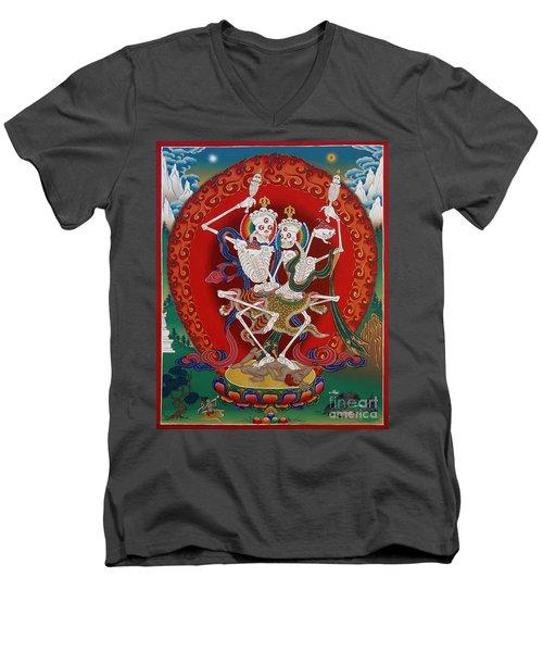 Shri Chittipati - Chokling Tersar Men's V-Neck T-Shirt by Sergey Noskov