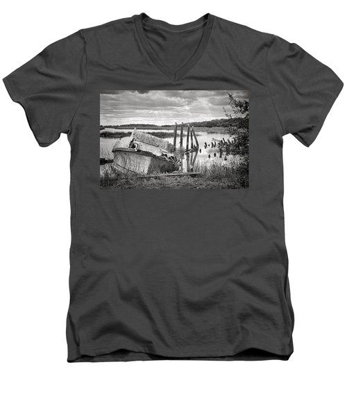 Shrimp Boat Graveyard Men's V-Neck T-Shirt