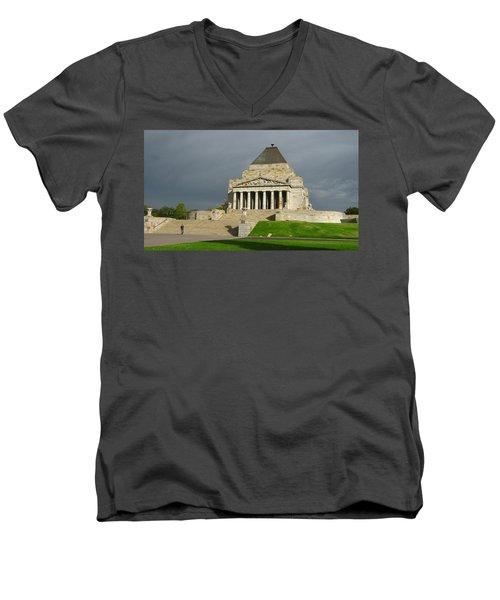 Shrine Of Remembrance Men's V-Neck T-Shirt