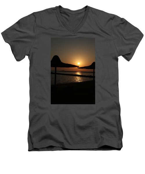 Men's V-Neck T-Shirt featuring the photograph Shuldersol by Jez C Self