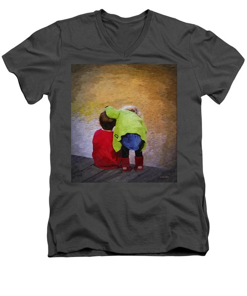 Sibling Love Men's V-Neck T-Shirt by Brian Wallace