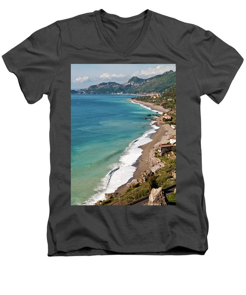 Sicilian Sea Sound Men's V-Neck T-Shirt