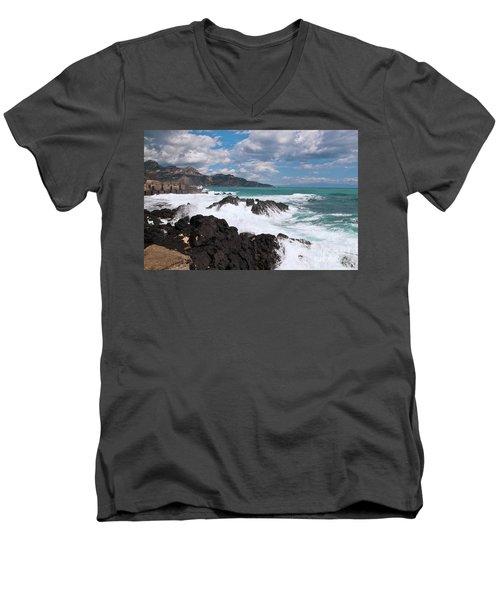 Sicilian Stormy Sound Men's V-Neck T-Shirt