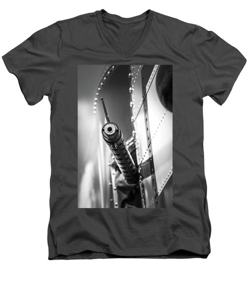 Side Gunner B-25 Men's V-Neck T-Shirt