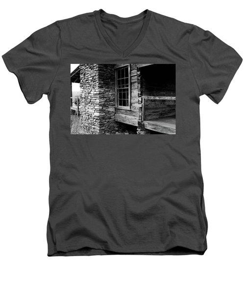 Side View Men's V-Neck T-Shirt