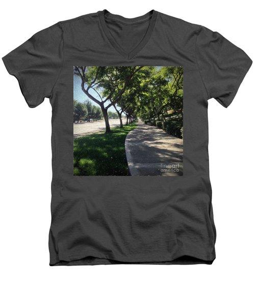 Sidewalk Counseling Men's V-Neck T-Shirt by Sharon Soberon