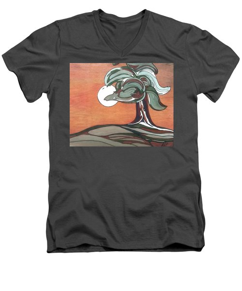 Sienna Skies Men's V-Neck T-Shirt by Pat Purdy