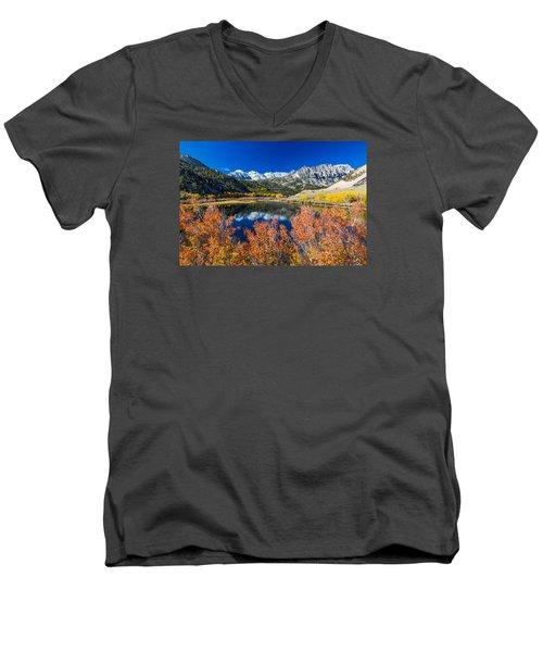 Sierra Foliage Men's V-Neck T-Shirt by Tassanee Angiolillo