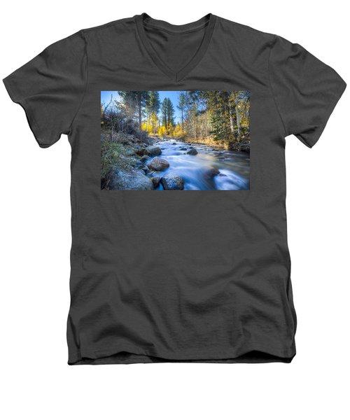 Sierra Mountain Stream Men's V-Neck T-Shirt