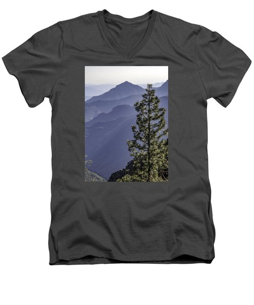 Men's V-Neck T-Shirt featuring the photograph Sierra Nevada Foothills by Steven Sparks