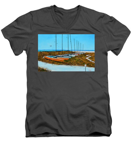 Siesta Key Access #8 Catamarans Men's V-Neck T-Shirt