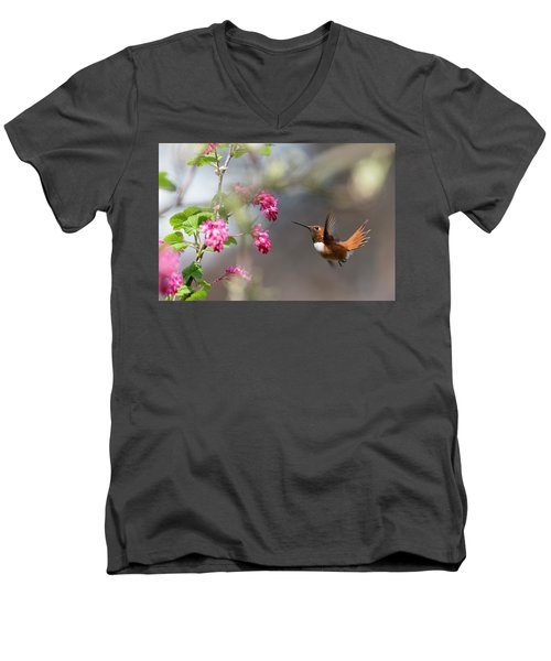 Sign Of Spring 3 Men's V-Neck T-Shirt by Randy Hall