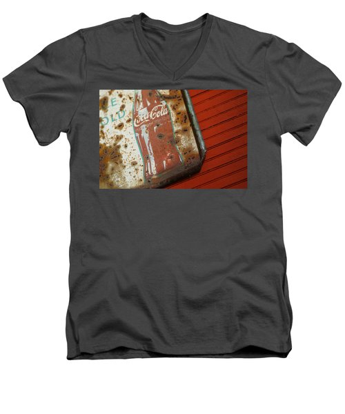 Sign Of The Times Men's V-Neck T-Shirt by Michael McGowan