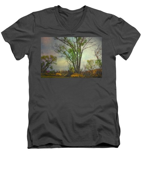 Men's V-Neck T-Shirt featuring the photograph Signs  by Mark Ross