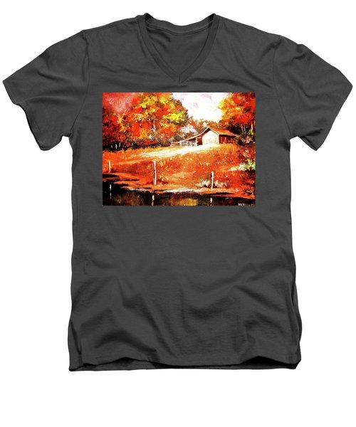 Signs Of Autumn Men's V-Neck T-Shirt