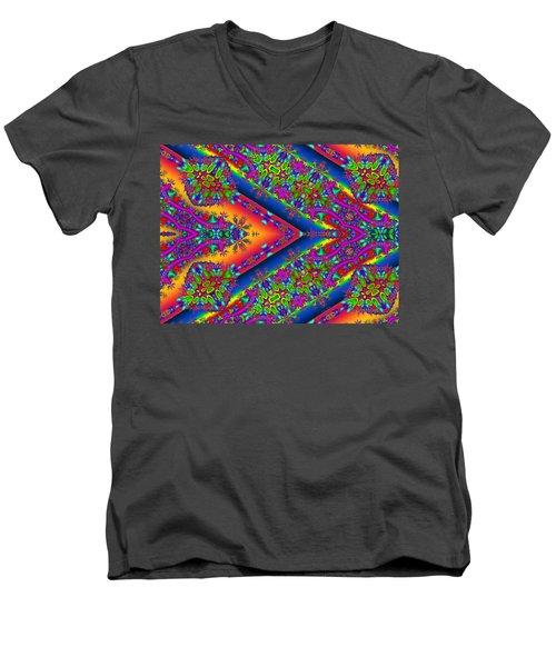 Men's V-Neck T-Shirt featuring the digital art Silence by Robert Orinski