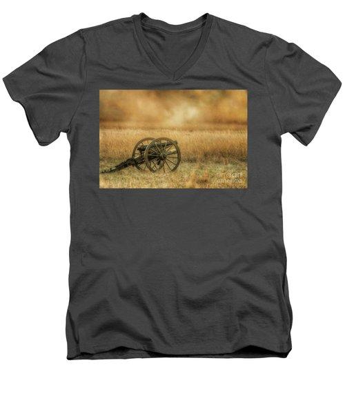 Silent Cannons At Gettysburg Men's V-Neck T-Shirt