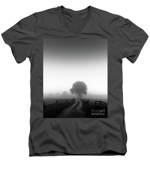 Men's V-Neck T-Shirt featuring the photograph  Silent Morning  by Franziskus Pfleghart