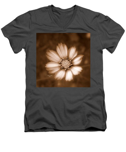 Silent Petals Men's V-Neck T-Shirt