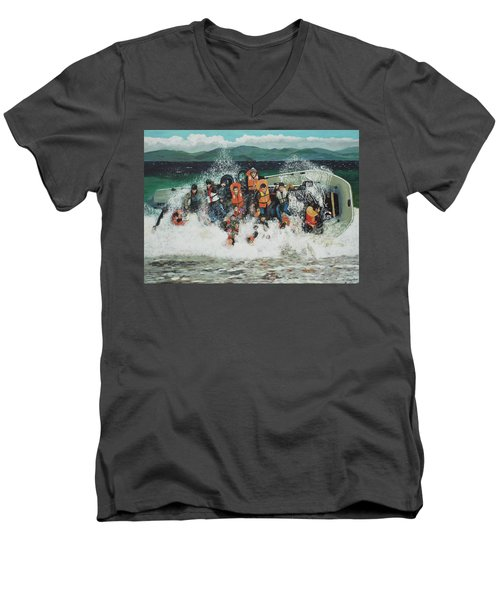 Silent Screams Men's V-Neck T-Shirt by Eric Kempson
