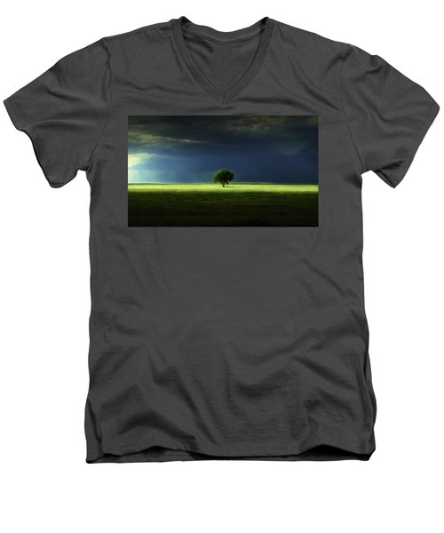 Silent Solitude Men's V-Neck T-Shirt