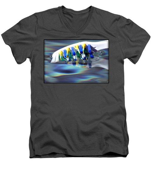 Silent Toothbrush Men's V-Neck T-Shirt