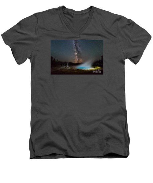 Silex Spring Milky Way  Men's V-Neck T-Shirt
