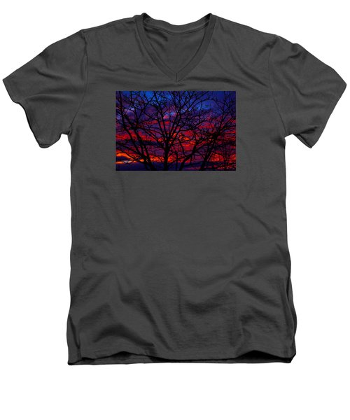 Silhouette 1 Men's V-Neck T-Shirt
